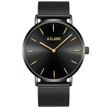 New Fashion Luxury Brand AILANG Mens Watches Stainless Steel Strap Quartz Watch Ultra Thin Dial