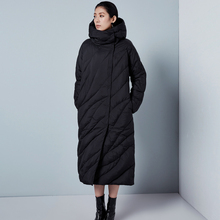 LYNETTE S CHINOISERIE Winter Women Fashion Army Green Loose X long Thick Hooded 90 White Duck