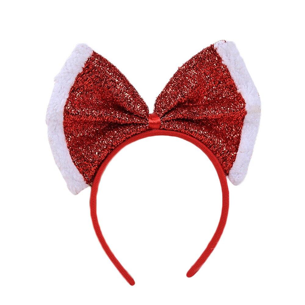 Украшение на голову, Рождественская повязка на голову, Санта, рождественские вечерние украшения, двойная повязка на голову, обруч на голову, Рождество, 0,667