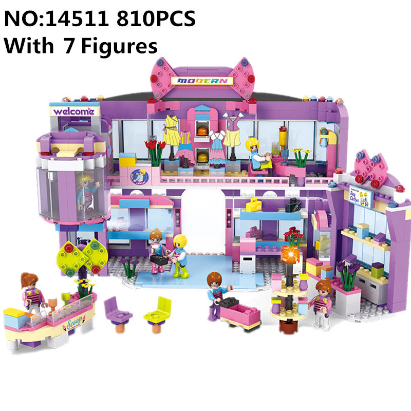 Diy 810pcs Compatible With Legoing Friend Girl Super Mall Series Building Blocks Brick Toys For Children Brithday Christmas gift single sale super heroes gi joe series matt with junkyard dog firefly snow job power girl building blocks kids gift toys kf6028