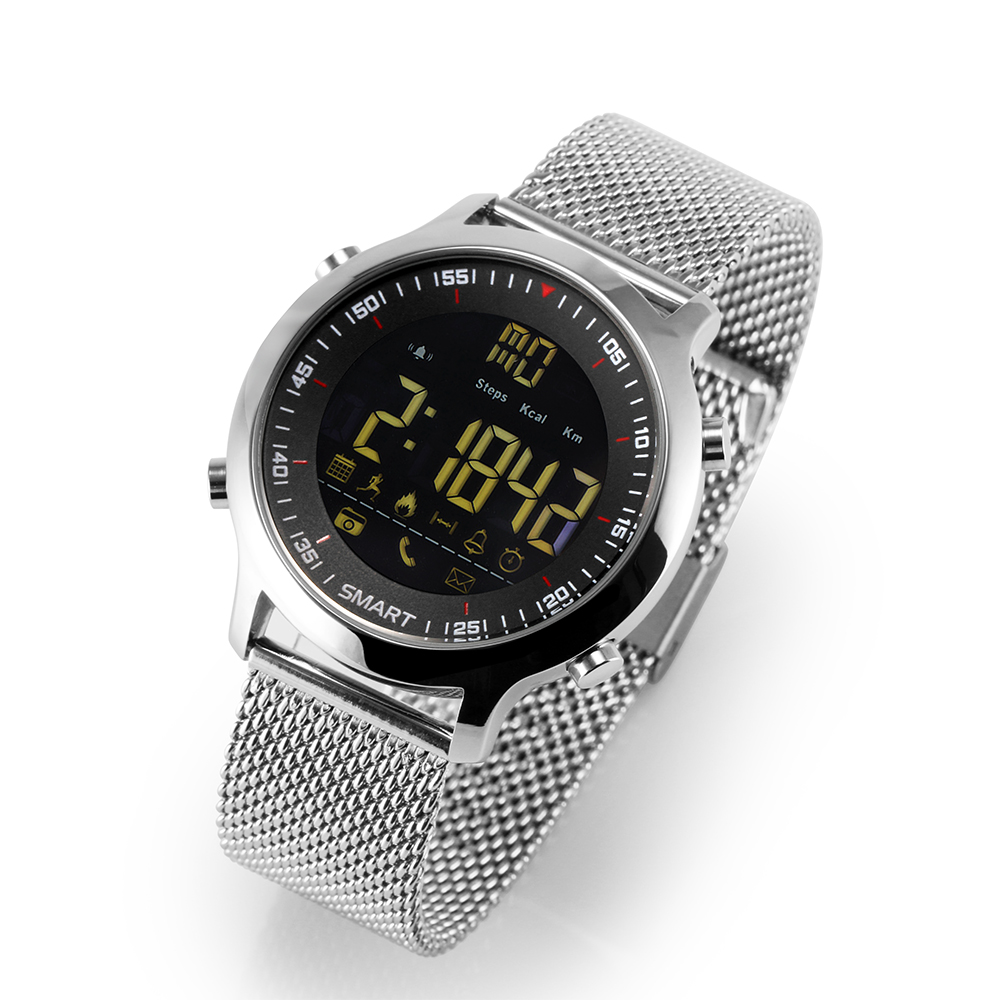 EX18 Смарт-часы IP67 Водонепроницаемый Поддержка вызова и SMS оповещение шагомер спортивных мероприятий трекер наручные часы SmartWatch ...