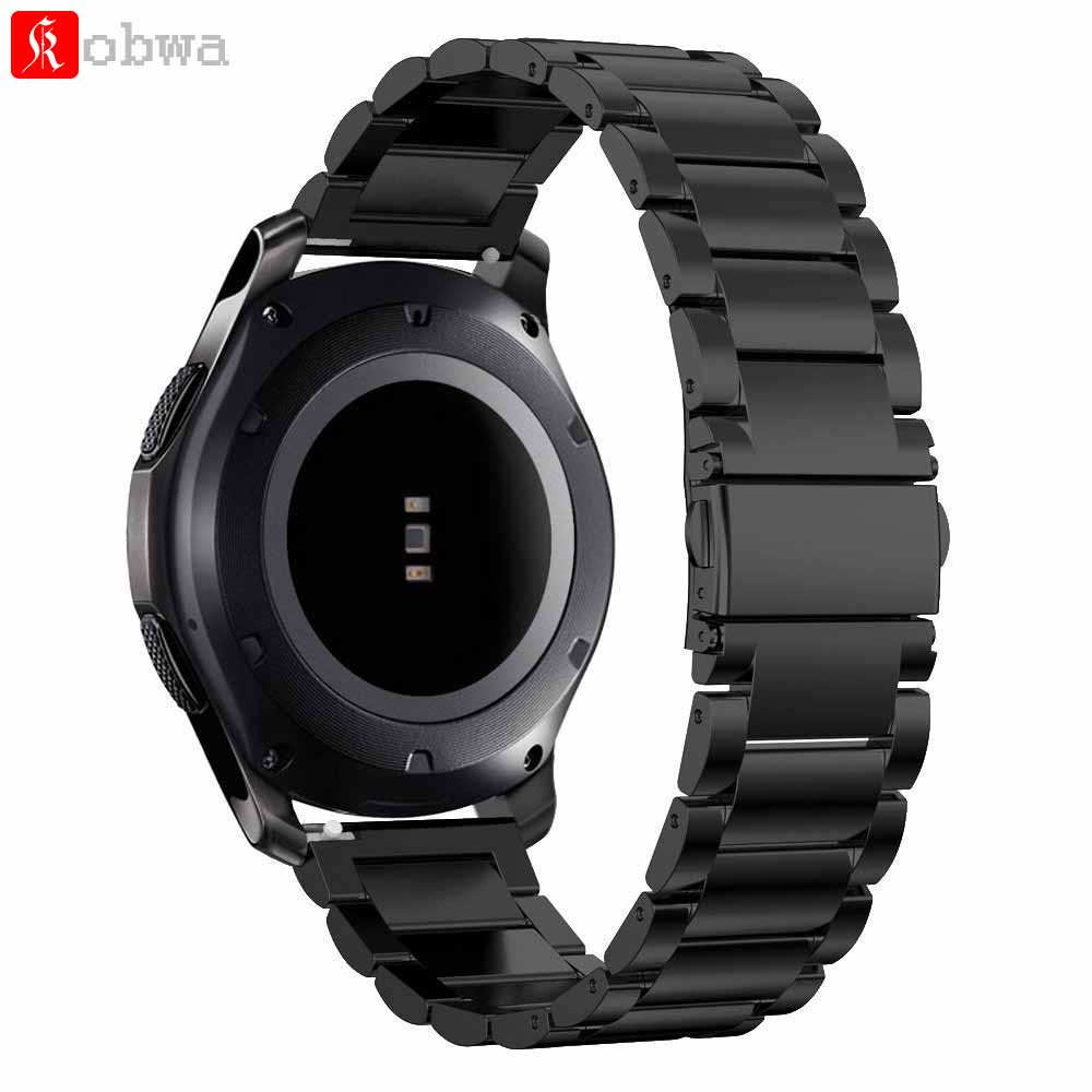 Kobwa 22mm Bracelet En Acier Inoxydable pour Samsung Vitesse S3 Frontière pour Samsung Vitesse S3 Classique Montre Smart Watch Bracelet Montre sangle