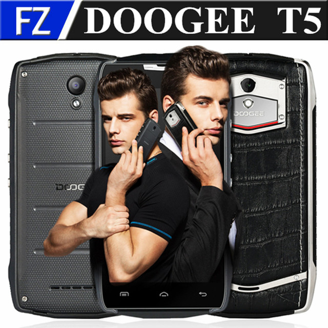 "Original DOOGEE T5 5.0"" HD MTK6753 Octa core Android 6.0 4G LTE business phone 3gb ram 32gb rom 13MP dual sim waterproof GPS"