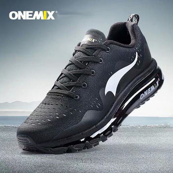 ONEMIX Men's Running Shoes Sports Sneakers Damping Air Cushion Breathable Knit Fresh Mesh Outdoor Walking Jogging male athletic onemix running shoes for women sports shoes sneakers damping air 270 cushion breathable knit mesh vamp for outdoor walking shoes