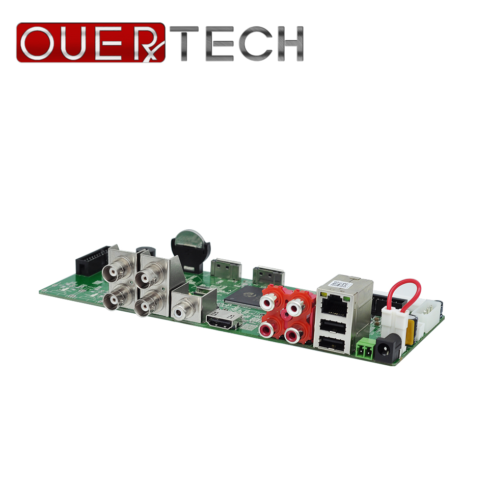 OUERTECH AHD CVI TVI IP CVBS 5 in1 4CH 4MP DVR board 4CH RCA Audio IN