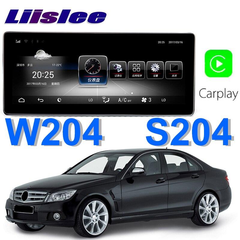 Liislee Car Multimedia Player NAVI For Mercedes Benz MB C 63 AMG C220 C250 W204 S204 2007~2010 Car Radio Stereo GPS Navigation цена
