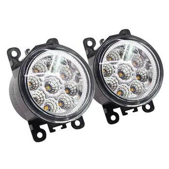 2 X Car Light LED DRL Daytime Running Light Fog Lamp 12V High Power