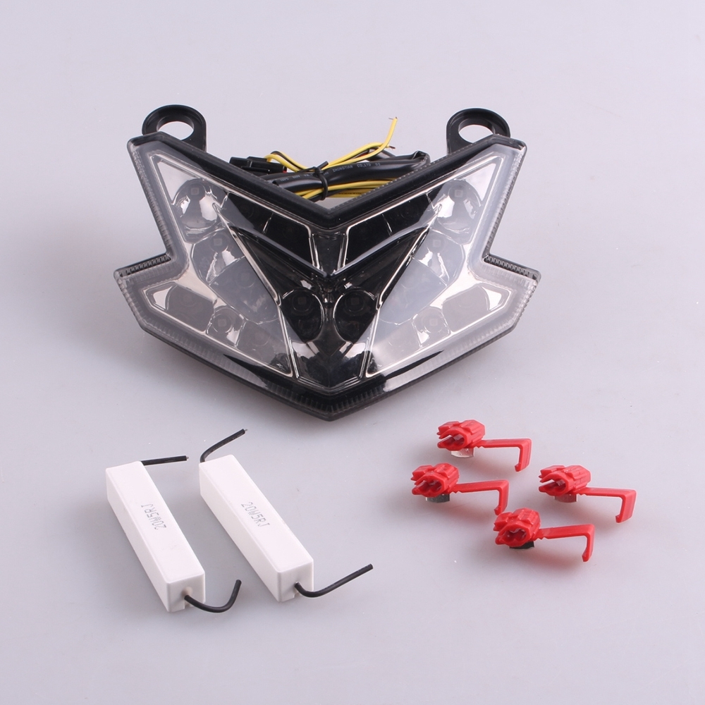 ФОТО For Kawasaki NINJA ZX6R 636 2013 2014 LED Rear Tail Brake Light Turn Signal Lamp Integrated Smoke