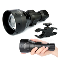 UniqueFire UF 1504 T67 300 Lumens Cree XRE Led Flashlight Zoomable 3 Mode Waterproof Blacklight Torch +Scope Mount For Camping