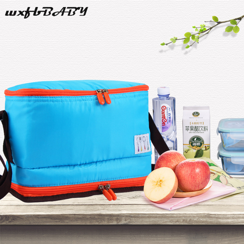 2018 New Fashion 9L Large capacity Portable Insulated lunch Bag Thermal Food Picnic Bag for Women kids Men Cooler bag Lunch Box