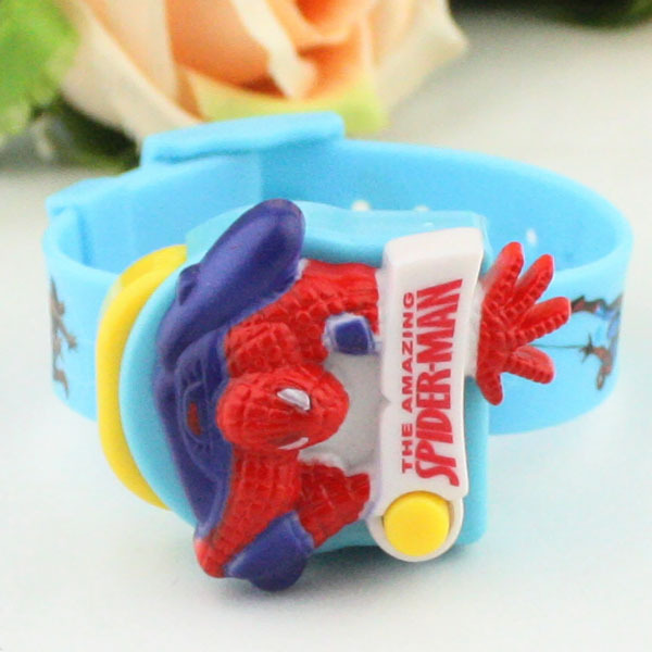 Fashion Q version of the cartoon children's high-end spider man, male and female students rubber band electronic watch