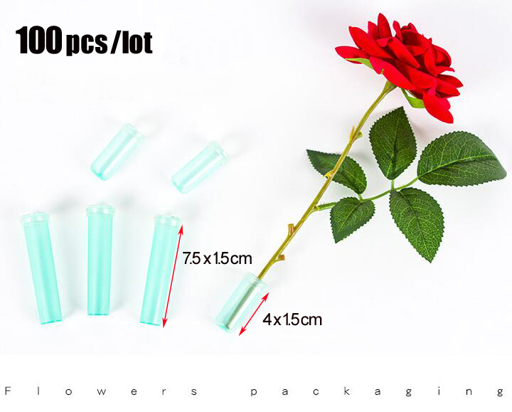 Garden Supplies Wcic 2.8 25pcs Floral Water Tube Fresh Flower Rose Pick Wedding Party Gift With Cap Flower Pots & Planters