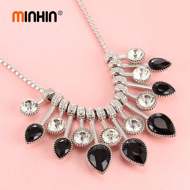 6bc8596e8d7f88 ... MINHIN 2018 New Statement Necklaces For Women Luxury Crystal Chokers Necklace  Collar Fashion Jewelry Mother's Day ...
