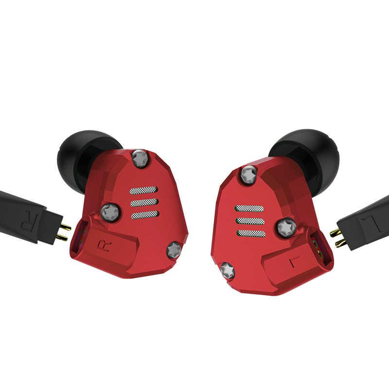 KZ ZS6 2DD + 2BA HIFI basowy zestaw słuchawkowy Sport słuchawki douszne dynamiczny sterownik słuchawki z redukcją szumów wymiana kabla as10 AS10