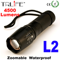 X800 LED Flashlight 4500Lumen CREE XM-L2 Zoomable Aluminum  LED Torch for 18650/26650/AAA Battery Flashlight LED G700