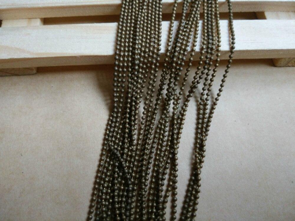 ca26a43cdd9c Material de pulsera collar DIY accesorios de cadena de acero joyería de  piezas de latón cadena 1.5mm cadena del grano SMM1011