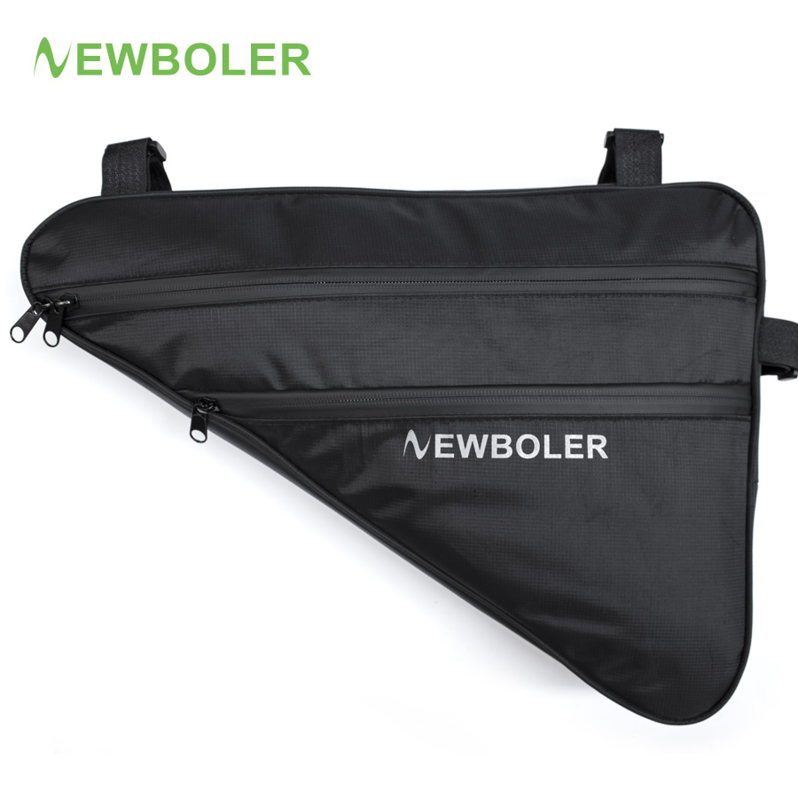 2018 NEWBOLER Large Bicycle Triangle Bag Bike Frame Front Tube Bag Waterproof Cycling Bag Pannier Ebike Tool Bag Accessories XL coolchange waterproof bike bag frame front head top tube cycling bag double ipouch 6 2 inch touch screen bicycle bag accessories