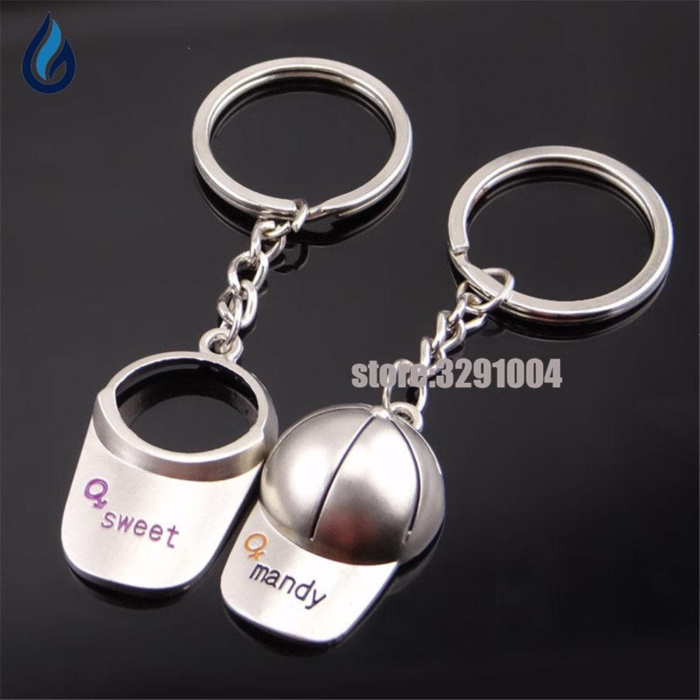 A Pair Of Couple Caps Key Chain Car Key Ring For Kia Rio Volvo Toyota Corolla Vw Polo Ma ...