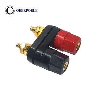 1 шт. двойной банановый терминал с шестигранными соединителями аудио роговым штекером без холодного давления пластиковый красный черный
