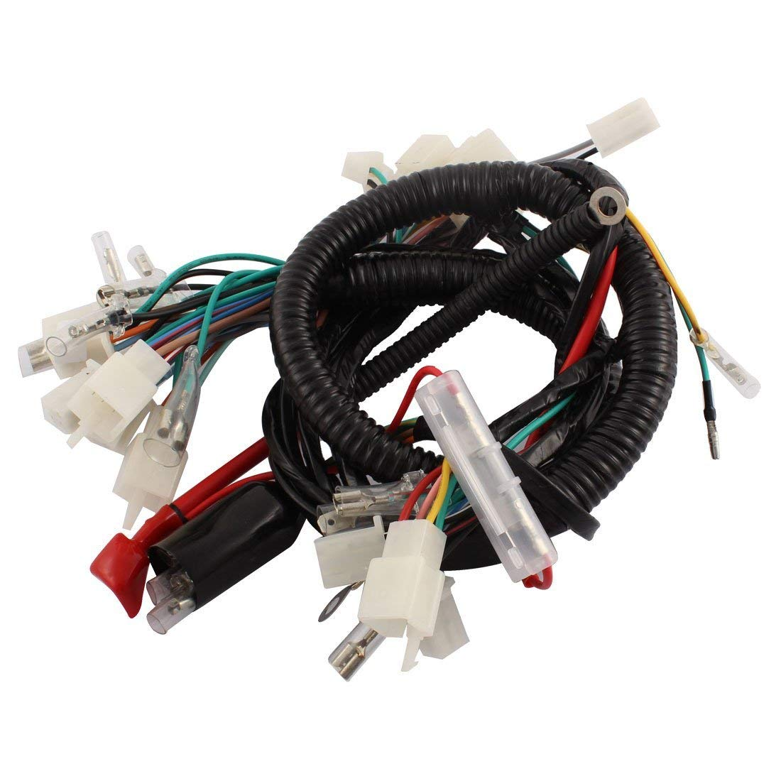uxcell motorcycle electrical main wiring harness [ 1100 x 1100 Pixel ]