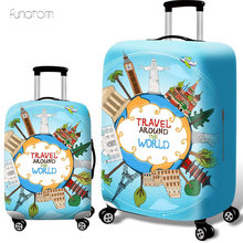 Thicker Travel Luggage Suitcase Protective Cover for Trunk Case Apply to 19''-32'' Suitcase Cover Elastic Perfectly стоимость
