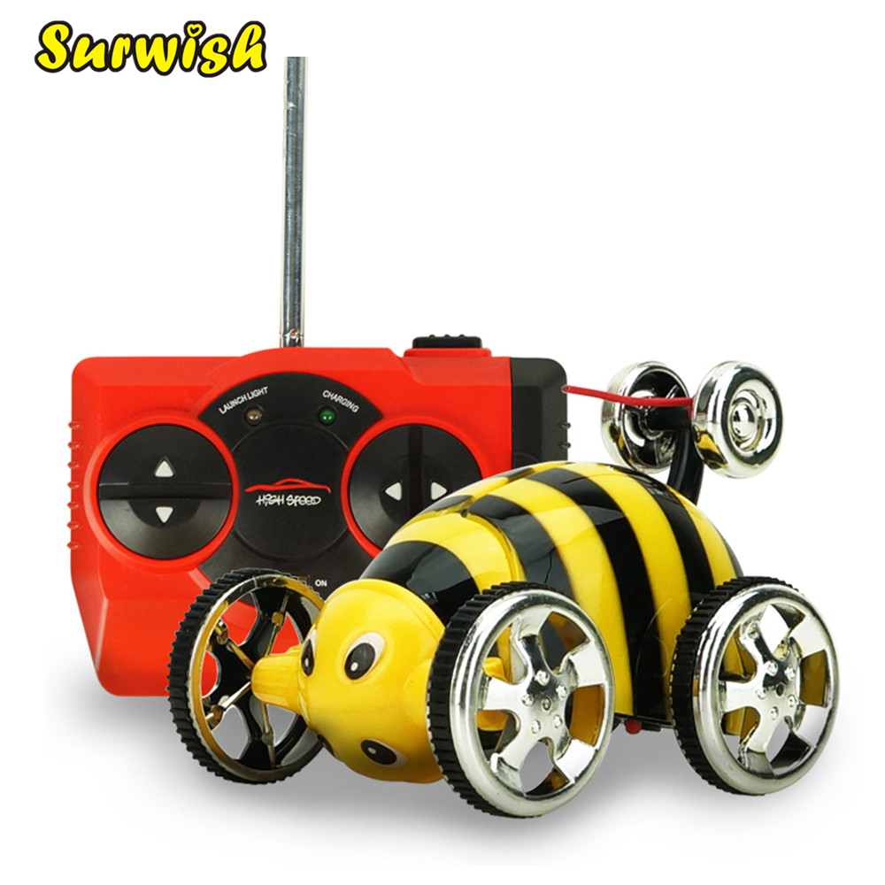2152B Creative Mini Insect Stunt Overturn 360 Degrees Flip RC Cars Toy for Children - Yellow