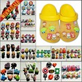 Mixed 6-8PCS Lovely PVC Shoe Charms Cartoon Shoe Buckles Accessories Fit Bands Bracelets Croc JIBZ Kids Party Gifts/Favors