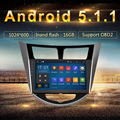 """9"""" RK3188 Android 5.1.1 Car GPS Radio for Hyundai Solaris I25 Verna 1024*600 Touch Screen WIFI Bluetooth mirro link free map"""