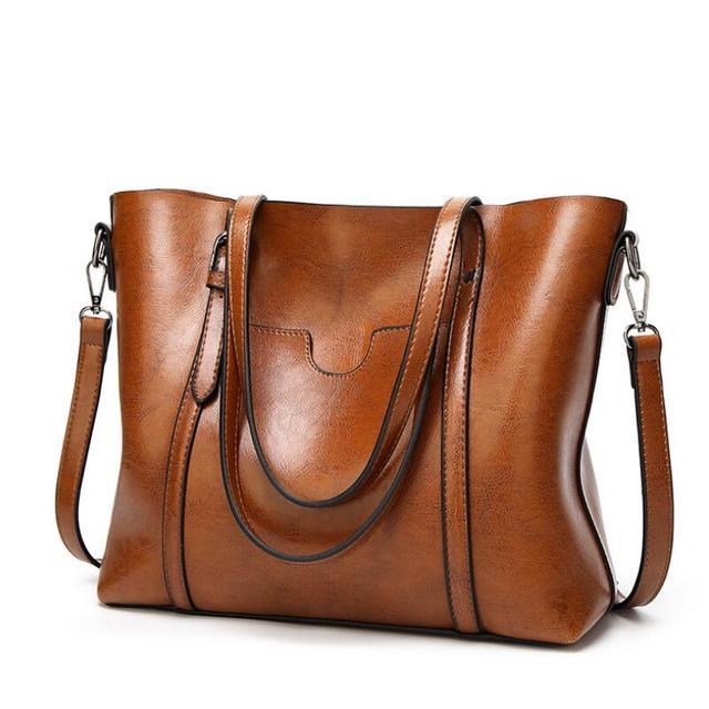 Sales Promotion!2018 Russia Women s PU Leather Bag Big Shoulder Bags Women  Messenger Bags Handbags 2a89e55f5611c