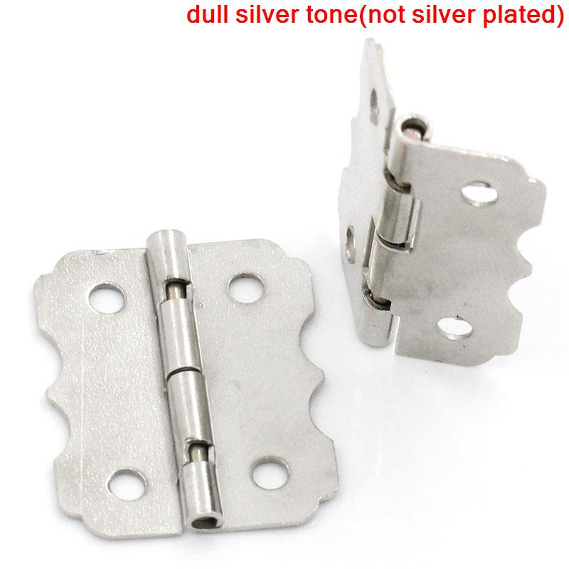 Door Butt Hinges(rotated from 90 degrees to 210 degrees)Silver Tone 4 Holes 24mm x 20mm,50PCs 2016 new 50pcs j310 transistor to 92 new