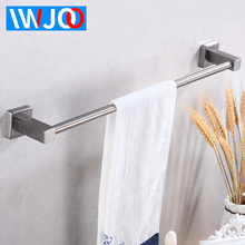 Stainless Steel Towel Bar Single Wall Mounted Bathroom Towel Rack Hanging Holder Robe Towel Rail Hanger Shelf Bathroom Hardware недорго, оригинальная цена