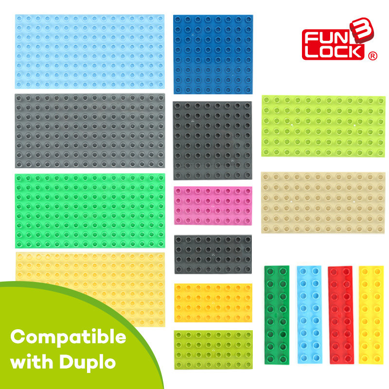 Funlock Duplo Building Blocks Brick Bottom Plate Baseboard - Mainan pembinaan - Foto 1
