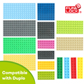 Funlock Duplo Conjunto Placa Base Placa Inferior de Construcción Bloques de Construcción de Ladrillo Juguetes Educativos Juegos de Elementos Básicos Para El Cabrito