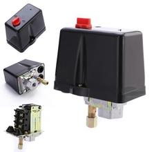 3 เฟส 230V 400V 16A สวิทช์ความดันคอมเพรสเซอร์เครื่องอัดอากาศควบคุม 90 120 PSI เครื่องมือ