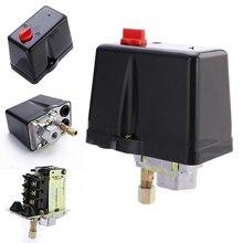 3 fazlı 230V 400V 16A basınç anahtarı için kompresör hava kompresörleri anahtarı kontrol 90 120 PSI ev araçları