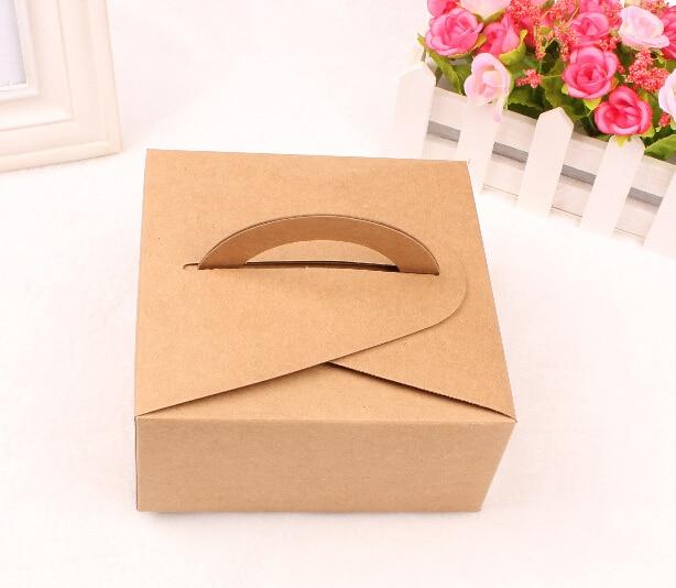 Alicewhitebrown Cake Gift Box With Handlewedding Cake Box In