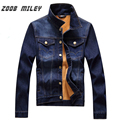 ZOOB MILEY 2017 New Winter Fashion Men's Jeans Coats Warm Thicken Fleece Inside Denim Jacket Causal Outerwear Plus Size M-3XL