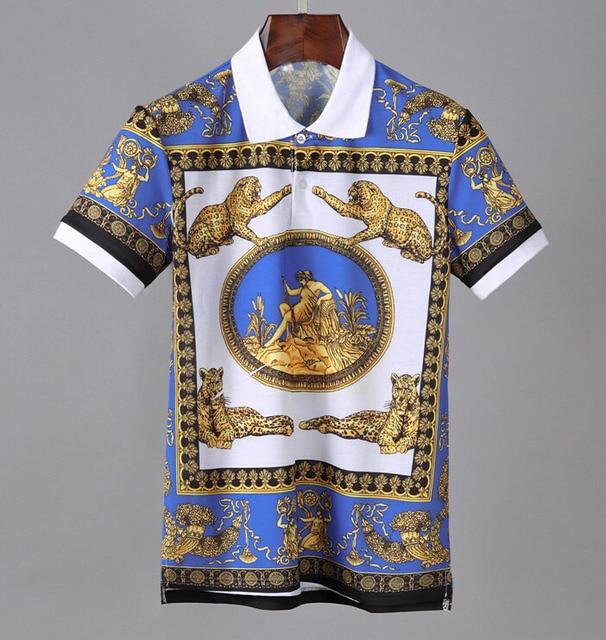 Мужская деловая рубашка поло, поло с вышивкой, 2019
