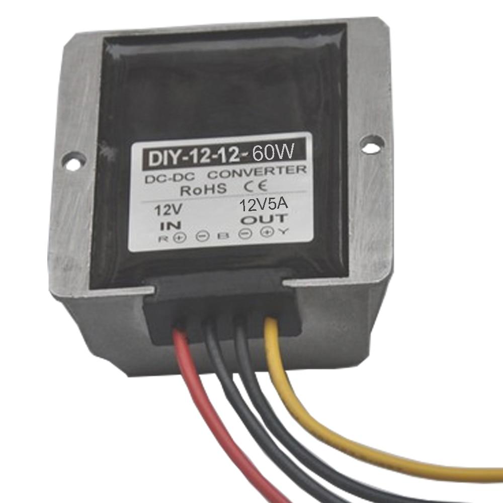 100PCS ConverterDC 12V(8V-20V) to 12V 5A DC Boost Buck Power Module Voltage Regulator waterproof si2305 a5shb 3 5a 8v sot23