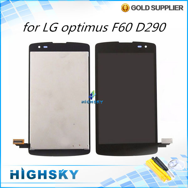 1 piece free shipping replacement parts assembly screen for LG optimus F60 D290 lcd display with touch digitizer