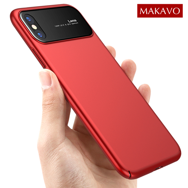 super popular aad26 2956f MAKAVO for Apple iPhone X Case Luxury Tempered Glass Back Cover ...