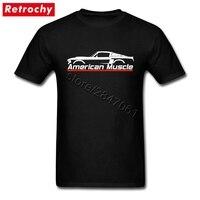 2017 Conception De Marque Américain Mustang T Shirt Muscle Hommes Élégant Fit Manches Courtes Classique T-shirt Pour Homme XXXL Taille vêtements