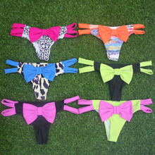 New swimming briefs sexy swimwear women bikini bottom with big bow brazilian tanga panty underwear biquini swimsuit