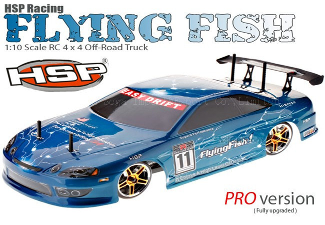 HSP baja Flying Fish 94123PRO 4WD 1/10 Brushless Scale Electric Power Off Road Drifting Rc Car with 2.4G radio control hsp rc car flyingfish 94123 4wd drifting car 1 10 scale electric power on road remote control car rtr similar himoto redcat