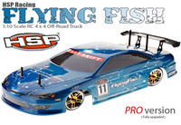HSP baja Flying Fish 94123PRO 4WD 1/10 Brushless Scale Electric Power Off Road Drifting Rc Car with 2.4G radio control