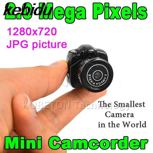 kebidu Y2000 CMOS 2.0 HD Digital Camera Micro Mega Pixel Pocket Video Audio Mini Camcorder 640*480 480P DV DVR 720P 200W