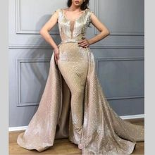 6c6ee6170 Dubai vestidos noche largo sirena baile De graduación vestidos De falda  desmontable brillo 2019 las nuevas mujeres Formal vestid.
