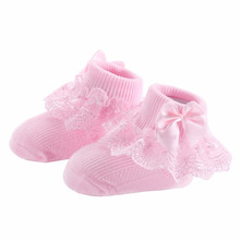 New Fashion Bow Lace Baby Girls Socks