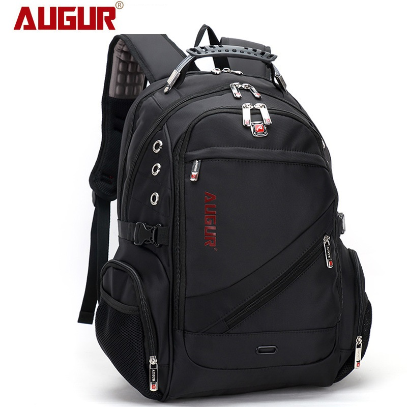 AUGUR Newest Brand High-capacity Business Travel Backpack Oxford Waterproof Shoulder Bag Shockproof Laptop Bag for Teenagers augur 2018 brand men backpack waterproof 15inch laptop back teenage college dayback larger capacity travel bag pack for male