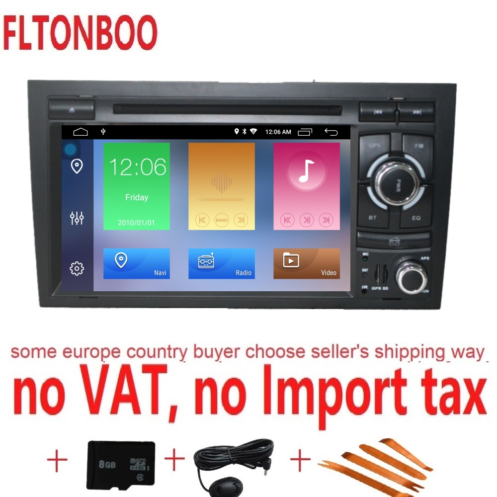 7 Android 8.1 Car GPS Navigation radio dvd player for AUDI A4 ,Canbus,bluetooth,steering wheel,16GB ROM,